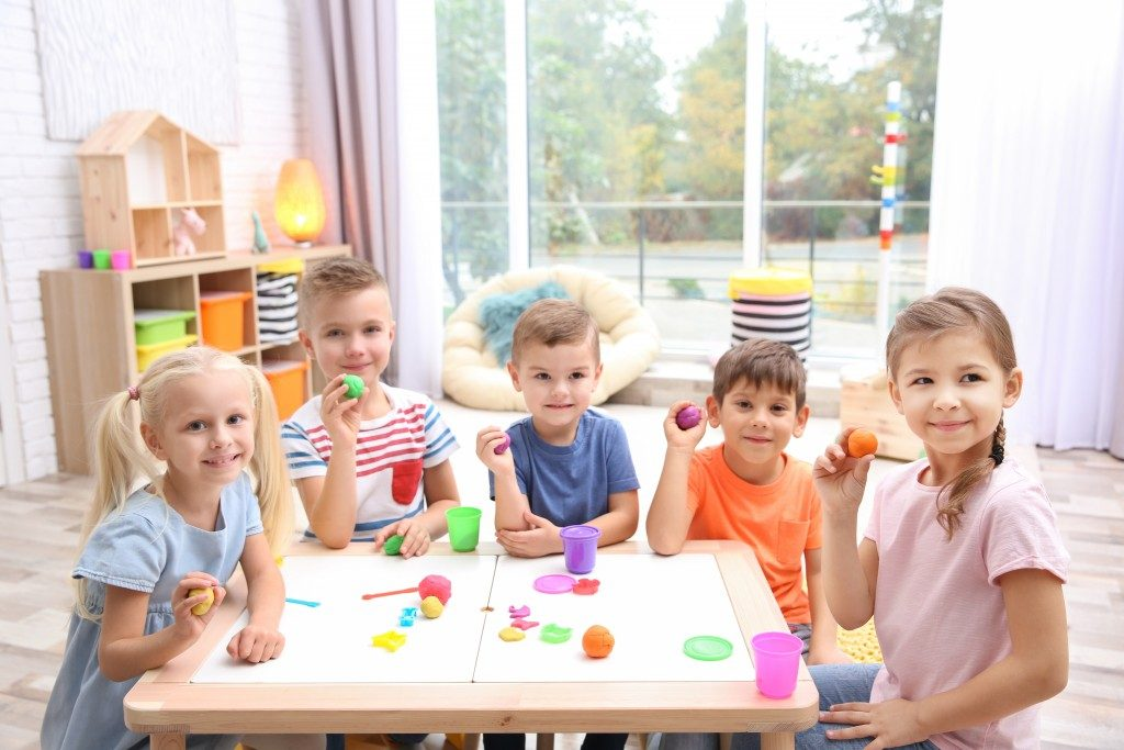 students at a kindergarten