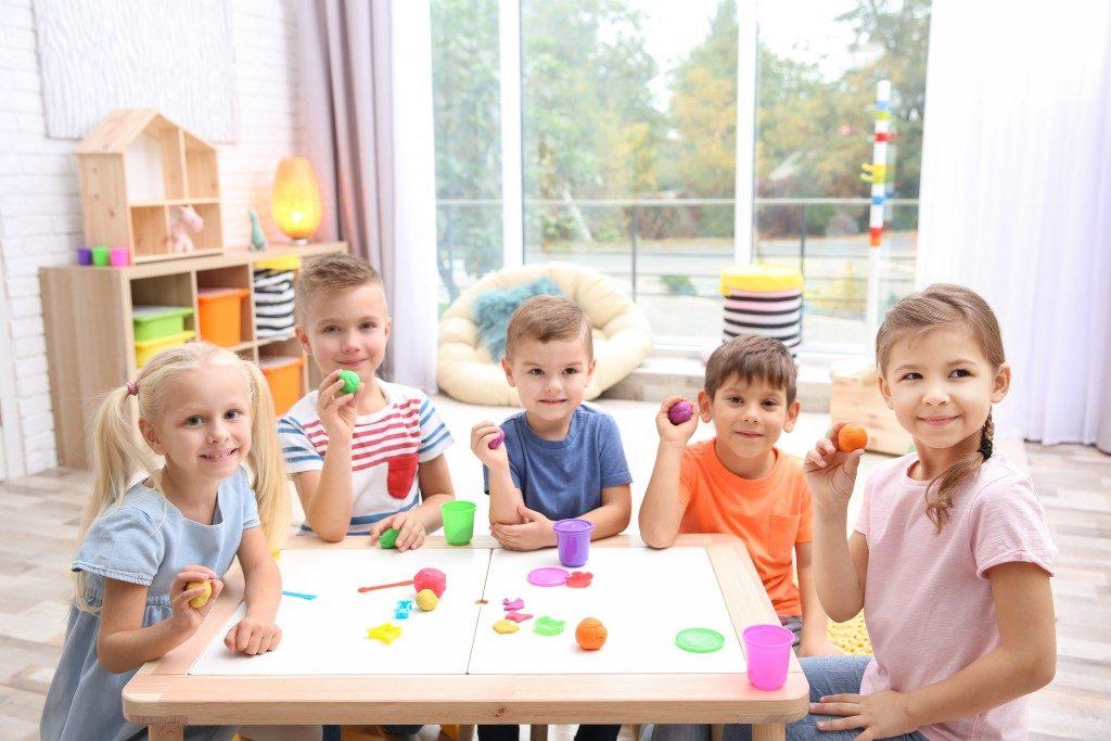 students at a kindergarten